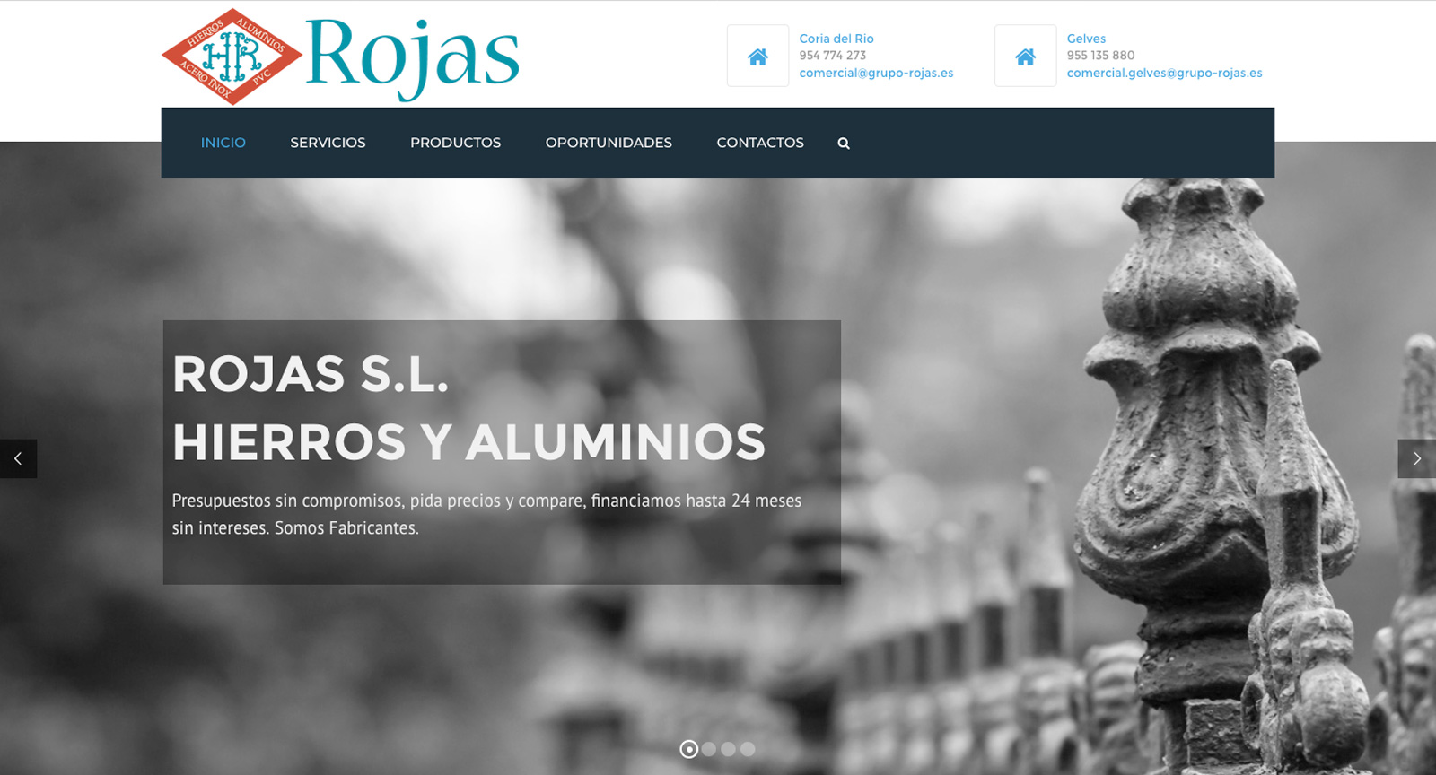 Paginas web Grupo Rojas S.L., Misiti Communication